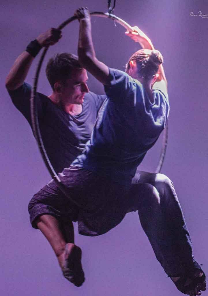 Pescărușul aerial gym cerc aerian
