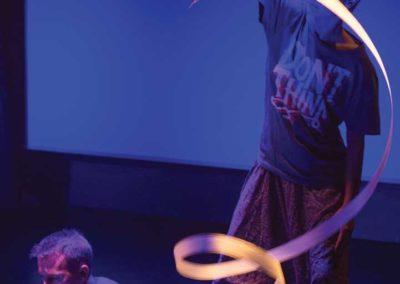 Pescărușul gimnastică ritmică panglică